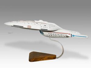Star Trek USS Enterprise Voyager Solid Kiln Dried Mahogany Wood Desktop Model