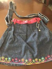 Handmade Denim Handbag Made From Used Blues Adjustable Strap