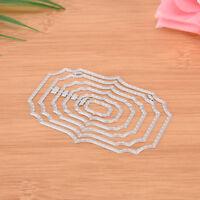 Square frame Metal Cut Dies Stencil Scrapbook Album Paper Card Emboss Craft TK