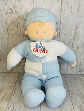 New Baby Gund Boy Doll Snugalittle Thermal Waffle Jumper Blue White 5795
