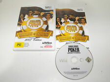 "World Series Of Poker Tournament Of Champions For Nintendo Wii ""Free Postage"""