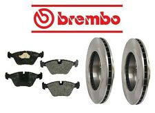 Jaguar XJ6 1990-1997 Front Brake KIT Disc Rotors & Pad Set Brembo/Mintex
