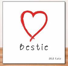 BESTIE_BEST MATE_FRIEND PERSONALISED BIRTHDAY CARD - Free 1st Class Post