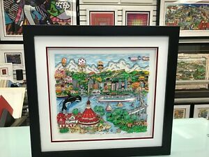 """Charles Fazzino 3D Artwork """" Sun Day in San Diego """" Signed & Numbered Deluxe Ed."""