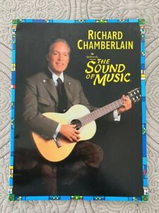 Sound of Music Richard Chamberlain Souvenir Theater Program + Cast Insert