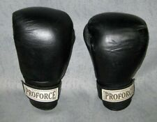 Proforce Original Boxing Gloves Leather Black 16 oz #88456 Good Used Condition