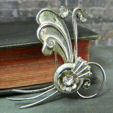 Signed Harry Iskin Sterling Silver Art Nouveau Style Pin/ Brooch
