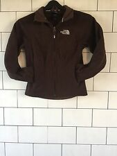 WOMENS BROWN THE NORTH FACE URBAN VINTAGE RETRO SWEATSHIRT ZIP UP JACKET XS