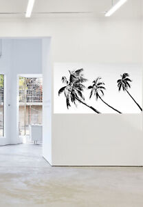 Framed Art Painting Tropical Palm Tree Paradise Island Canvas print  Andy Baker