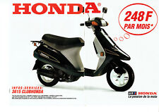 Publicité Advertising 107  1992  Honda & Elf (2p)  moto Vision met-in CLUB
