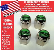 Chrome Ford Boss 302 5.0 Green Coyote Mustang Cobra Shelby GT Valve Stem Caps