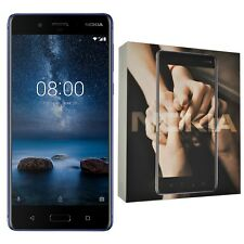 New Nokia 8 Single-SIM TA-1012 128GB Glossy Blue Android Factory Unlocked 4G GSM