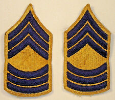 US Army Master Sergeant Rank Insignia Pair Combat Obsolete