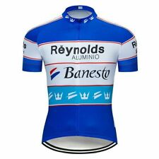 Cycling Short Sleeve Jersey Reynolds Banesto Cycling Jersey