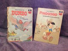 Walkt Disney's Pinocchio & Dumbo Adventure Books (Hardback; 1973 & 1972)
