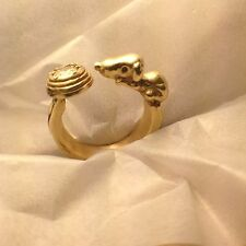 SNOOPY RING 18k Gold and Diamond Fan ART one of a kind  made to any size  RXV