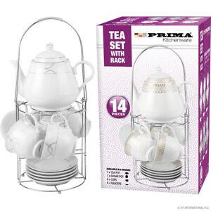 12pc Tea Cup Set grey design