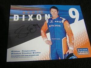 Indycar SCOTT DIXON signed PNC Bank Car 8x10 fancard! Indianapolis 500! +COA