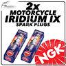 2x NGK Iridium IX Spark Plugs for MOTO GUZZI 1100cc V11 Le Mans 03-> #6637