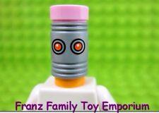 New LEGO Minifig Light Orange Eraser HEAD Pink Tile Top Batman Movie Series