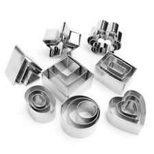24Pcs Metal Cookie Cutter Set Heart Biscuit Fondant Mold Baking Pastry Tools