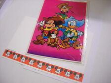 Walt Disney carta da lettere Topolino Paperino Pippo Copenaghen 1983 +busta