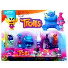 H DreamWorks Movie Trolls 2 Inch Tangled Elves Suction Plate Hands To Do Toy 6P
