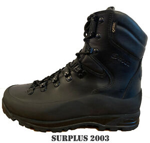 ITURRI Black British Army Boots GORE-TEX Wet Weather Leather Army Surplus