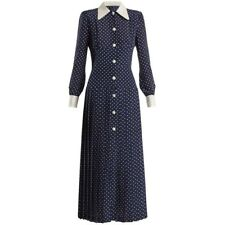 runway fashion royal wedding guest summer vintage long sleeve dress R1