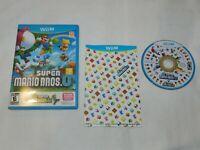 New Super Mario Bros. U + New Super Luigi U Nintendo Wii U Game Complete CIB