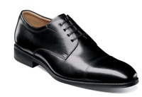 Florsheim Mens Shoes Amelio Cap Toe Oxford Black 14243-001