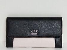 Guess Huntley Powder Multi Pink & Black SLG Medium Wallet Clutch NWT