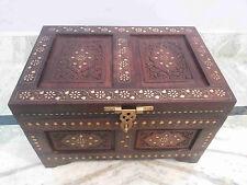 Wooden Box Treasure Pirate Chest Collectible Home Garden Decorative 18 Inches