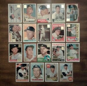 1996 Topps Mickey Mantle Commemorative Foil Stamped Complete Of 19 Cards EXNMMT