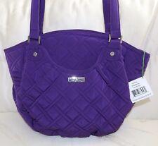 VERA BRADLEY GLENNA Purse Elderberry Purple Microfiber Purse - Over the shoulder