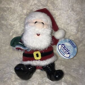 Santa Chilly & Friends Tesco Soft Toy Father Christmas Winter Xmas Gift With Tag