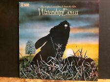 Watership Down banda sonora original LP Reino Unido 1st Press 1978 copia encantador!