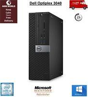 Dell Optiplex 3040 Desktop Core i3 6th Gen 8GB 256GB SSD DVD RW HDMI Windows 10