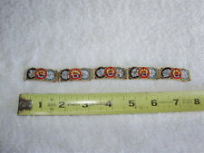 "Vintage Italian Italy Micro Mosaic Glass Tile Floral 5 Link 7 1/2"" Bracelet"