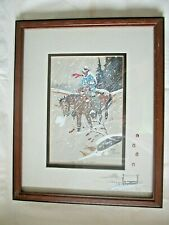 William T Zivic THE HARD WINTER Framed Signed WESTERN ART Official Artist Seal