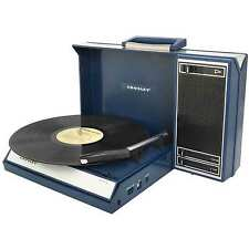 Crosley Spinnerette Portable USB Turntable w/ Audio Editing Software CR6016A-BL