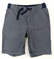 LANDS' END Kids Boys Pull-on Blue Striped Cargo Shorts - Size S (8)