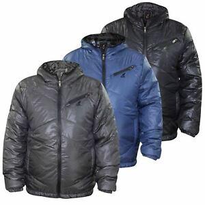 Kangol Boys Padded Jackets Full Zip Shiny Top Kids Winter Casual Coats Jacket UK