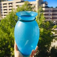 🔴 Alfredo BARBINI vaso in vetro di Murano etichetta acid firm anni 70 Art Glass