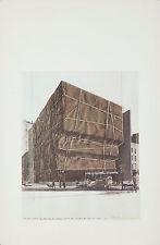 Original Vintage Poster Christo Jeanne-Claude Wrap Whitney Museum 1971 Earthwork
