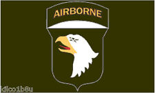 101st Airborne Flag - Screaming Eagles Flag-  3' x 5'  Flag - Banner in Black