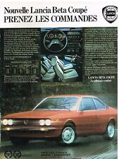 Publicité Advertising 1978 La Lancia Beta Coupé