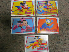Lot 5 Sets Disney Mickey Mouse Clubhouse Super Adventure Premium Trading Cards