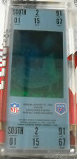 SUPER BOWL XXV 25 HOLOGRAM COMMERATIVE TICKET WITH CASE BILLS NEW YORK  GIANTS