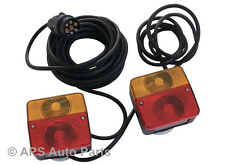 Pre Wired Magnetic Trailer Van Rear Towing LightBoard Lights Lamps + 10M Cable